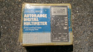 The Box that the Maplin M-776 DMM came in