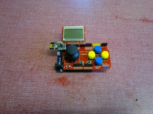 Leonardo and Joystick shield with Nokia 5100 display and nRF24L01