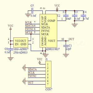 Tiny AD9833 Schematic
