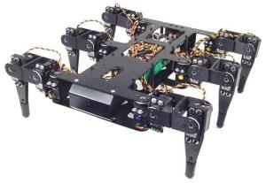 Assembled Lynxmotion Aluminum Hexapod Body Kit Full Size Brushed