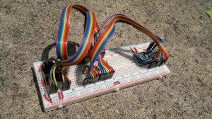 SL-1255-30 and Nano on breadboard #1
