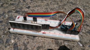 OHA8494 and Nano on breadboard #2