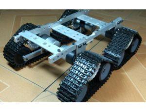 4 caterpillar track robot