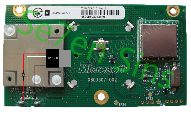 Make an xbox receiver from a rrod xbox 360 gr33nonline solder xbox 360 rf receiver to usb swarovskicordoba Gallery