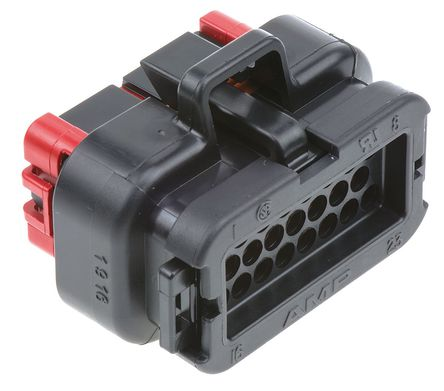 AMPSEAL 23 way plug housing, black