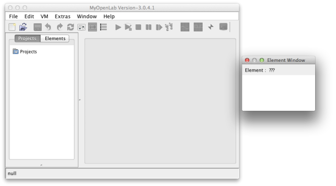 MyOpenLab running on OS X