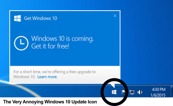 "Remove the ""Get Windows 10"" from the system tray"