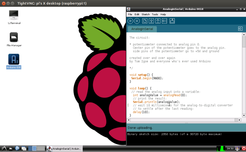 Arduino IDE on Fedora Raspberry Pi