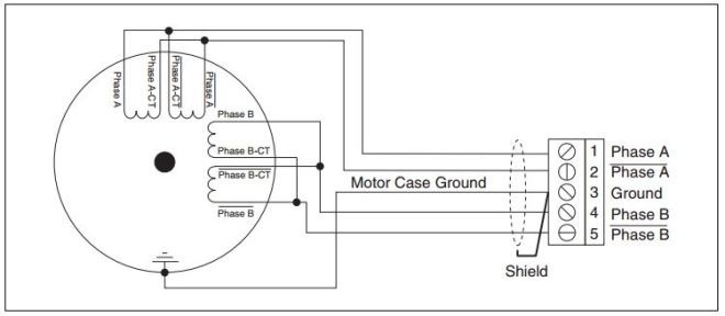Figure 4: 8-Wire Stepper Motor (Parallel Configuration)