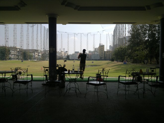 A shot of the driving range