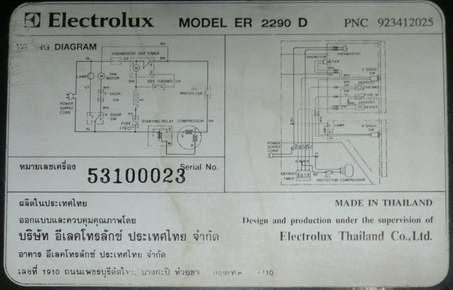 Circuit diagram for Electrolux ER 2290 D