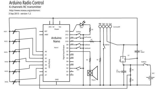 ArduinoRC schematic