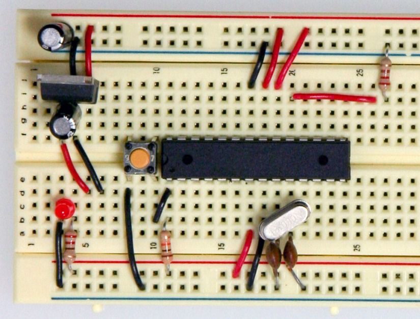 Arduino on a breadboard