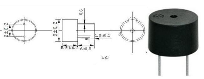 Buzzer dimensions