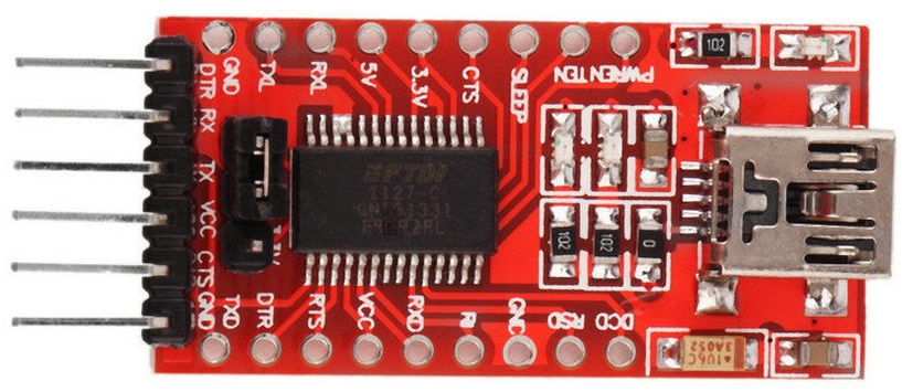 USB-TTL Interface board using the FTDI FT232RL