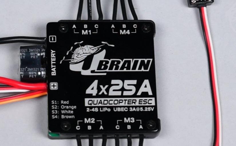 QBrain quad ESC 25 A