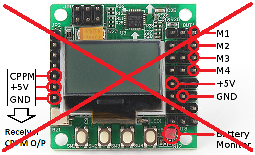 Incorrect power connections - these will destroy the flight controller