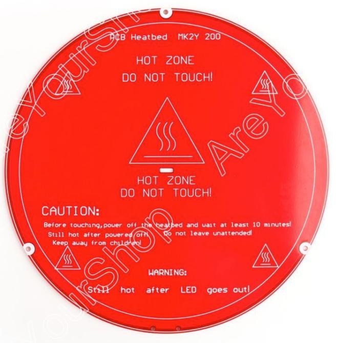220 mm PCB MK2Y Heatbed