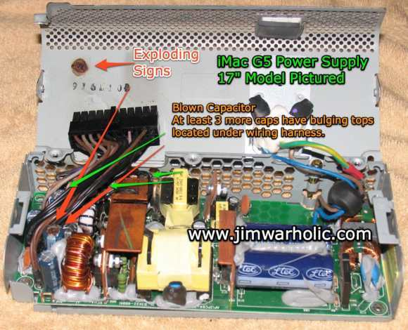 Apple iMac G5 Power Supply 17 Inch Model 180W – Apple P/N 614-0293