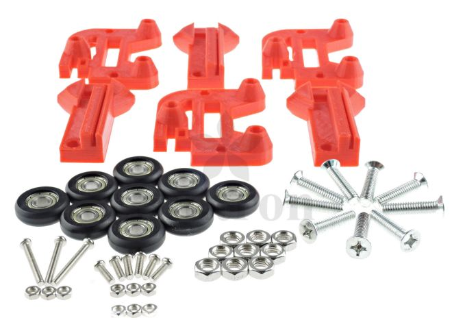 Vertical Carriage kit with Delrin rollers