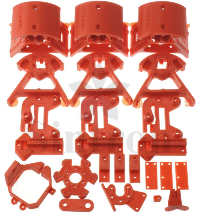 Kossel Printed Parts Red
