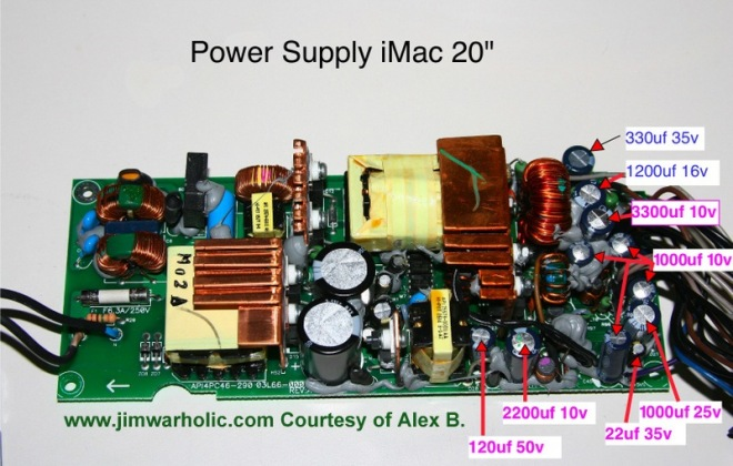 Power Supply iMac 20 Inch Model Apple Part Number — Apple p/n: 614-0326