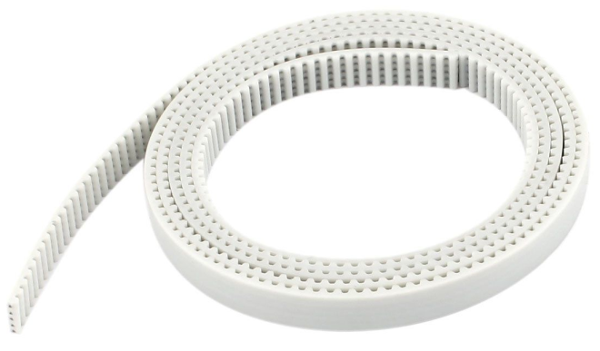 Steel reinforced white GT2 belt