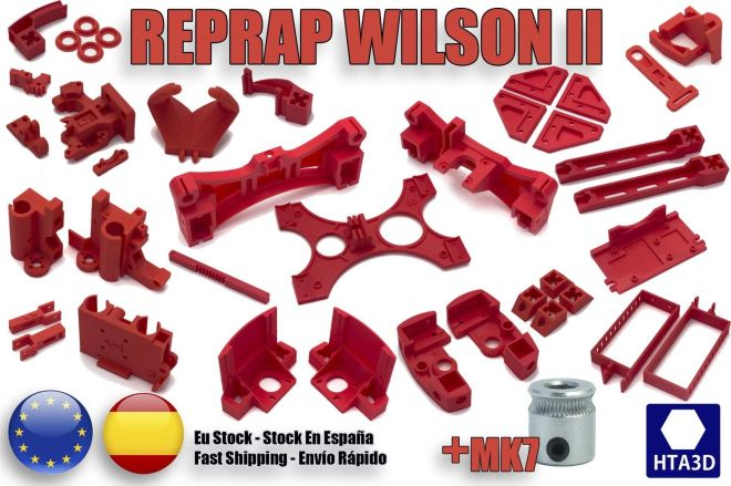 Wilson II Printed parts from HTA3D