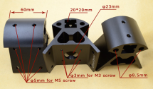 Aluminium Lower Vertex Dimensions