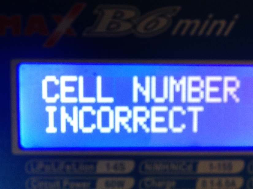 "B6 ""Cell Number Incorrect"""