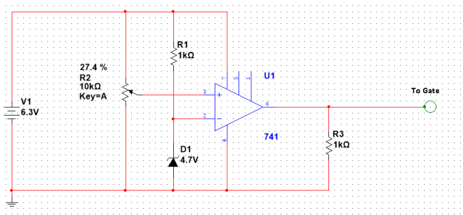 Comparator with variable resistor