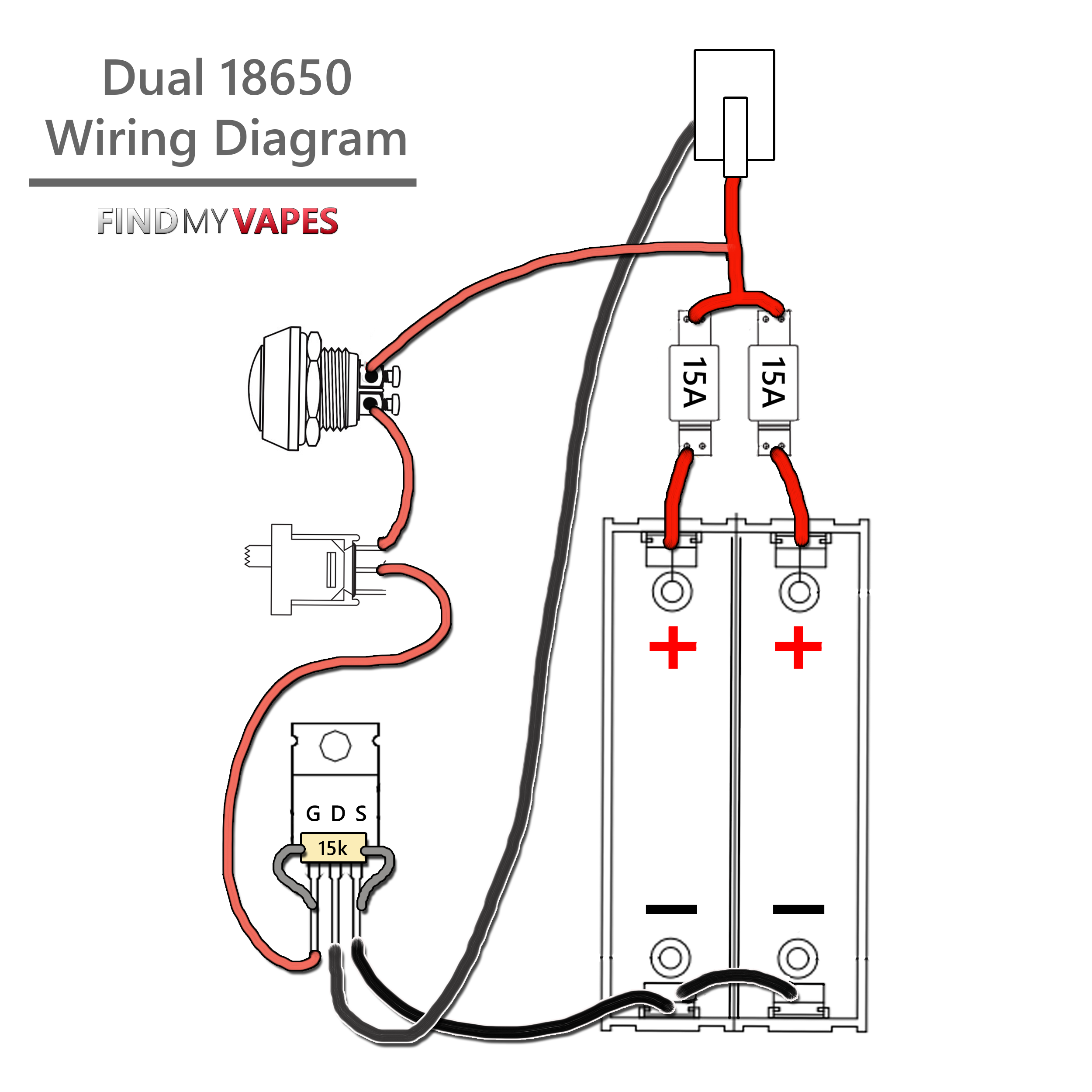18650 Battery Series Wiring Diagram Automotive Diagrams Led Solar Panel Wire Yihi Simple Schema Schematic
