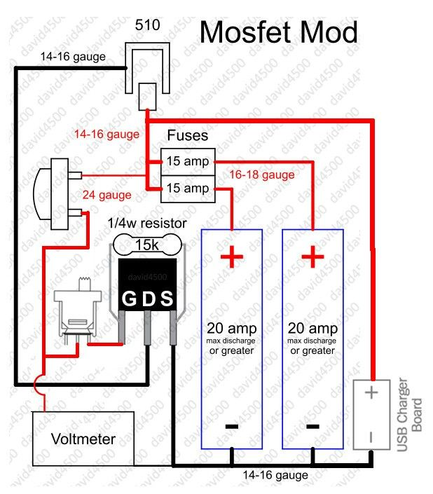 MOSFET mod with USB charger