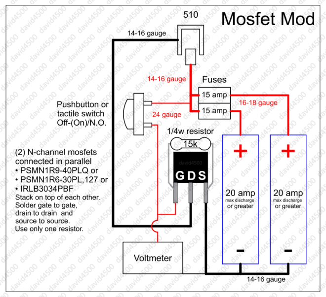 MOSFET mod with voltmeter
