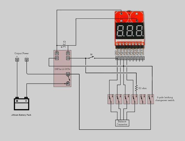 RC low voltage alarm and cutoff