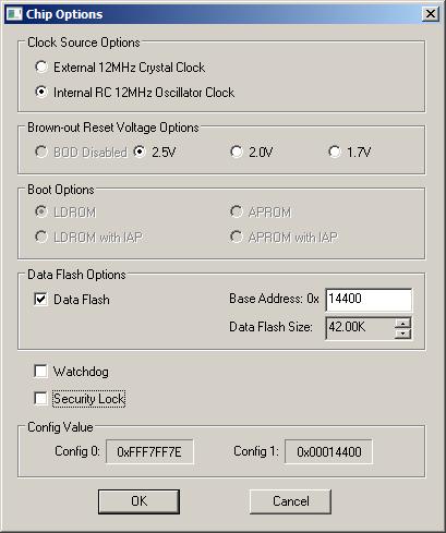 InternalCLK-2.5V-NoWatchdog-NoSecLock