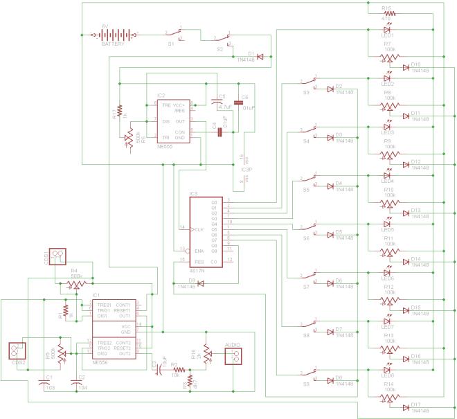 Atari Punk Sequencer (with 4017)