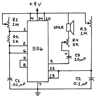 This is the original schematic Forrest Mims published