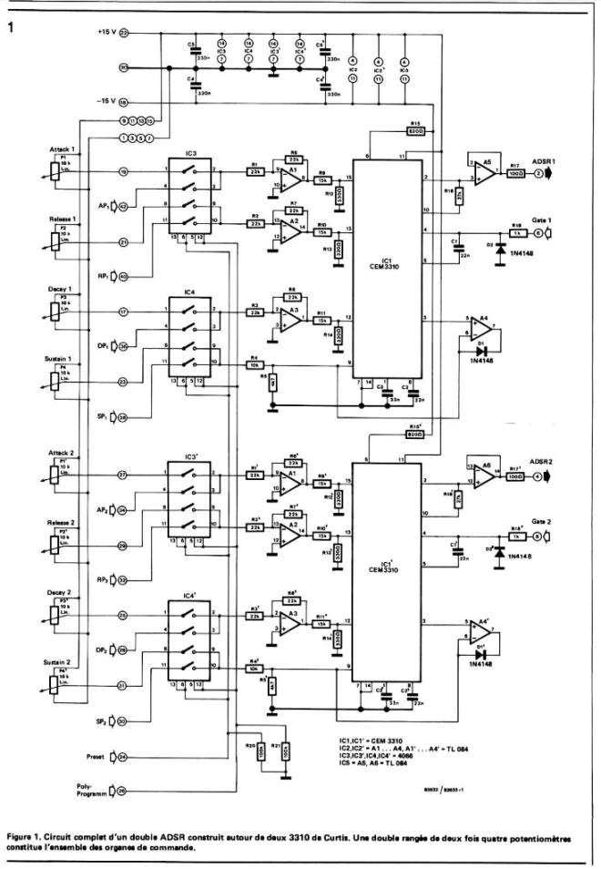 ADSR waveform generator - CEM3310