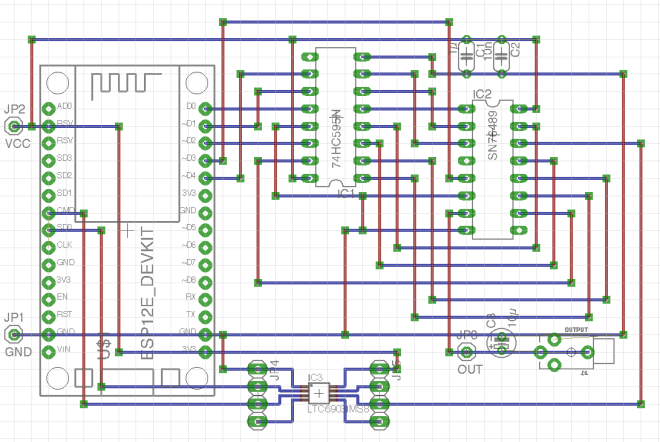 ESP8266_SN76489_VGM_Player board