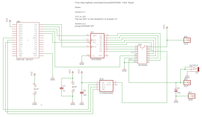 ESP8266_SN76489_VGM_Player schematic