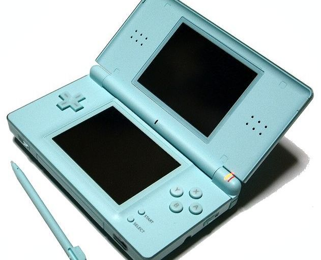 Battered Nintendo DS Lite