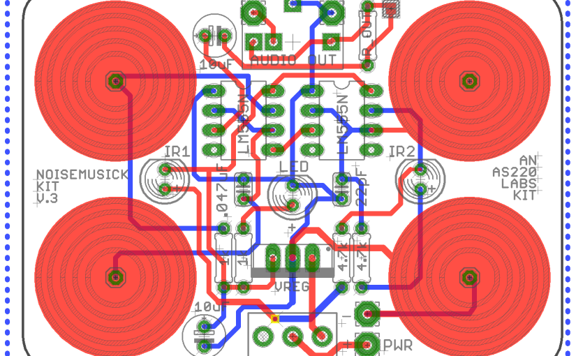 Making a 555 NoiseMusick PCB