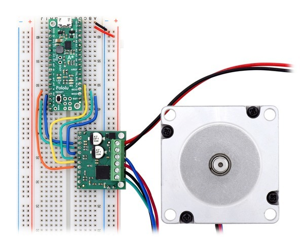 Controlling an AMIS-30543 stepper motor driver carrier with an Arduino-compatible #3104 A-Star 32U4 Mini SV.