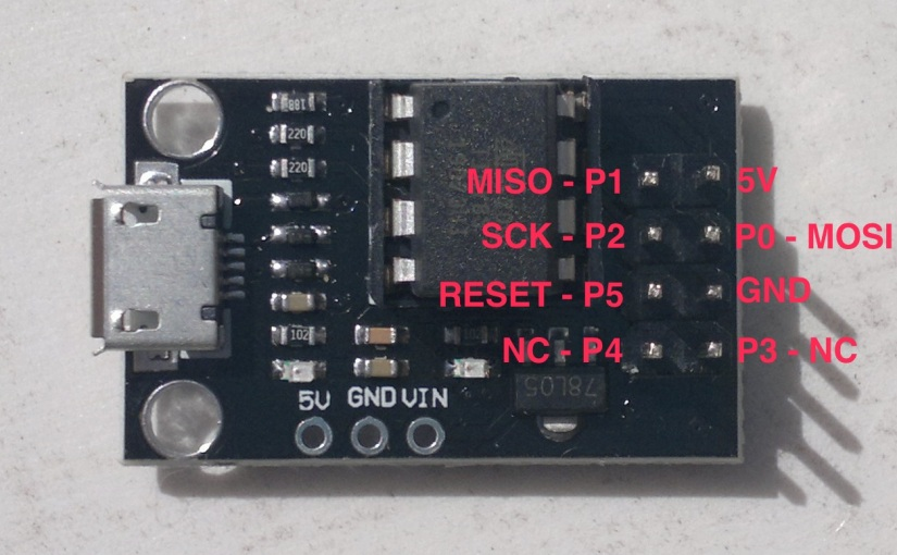Using an ATtiny development board