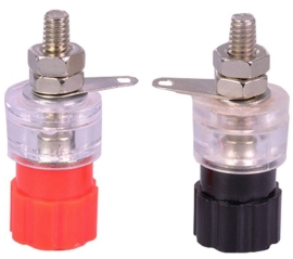 100pcs blue Binding Post 4mm Banana socket for multimeter Safety protection Plug