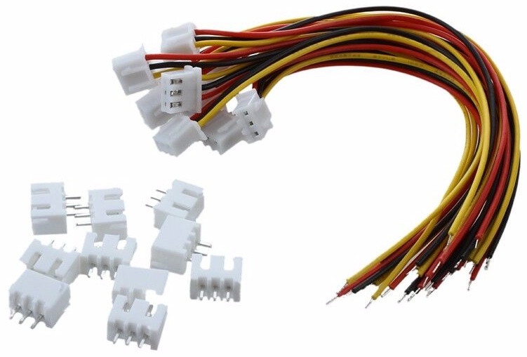3 pin leads and connectors