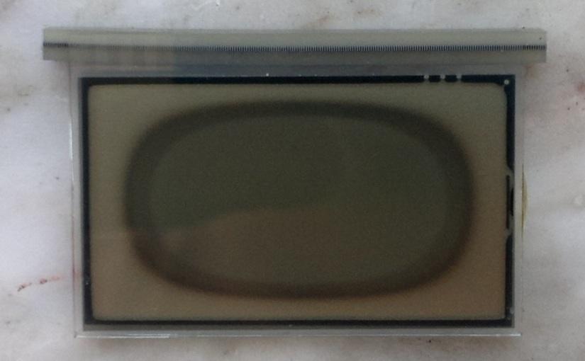 Blackened LCD screenrepair