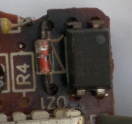 Burnt Zener diode