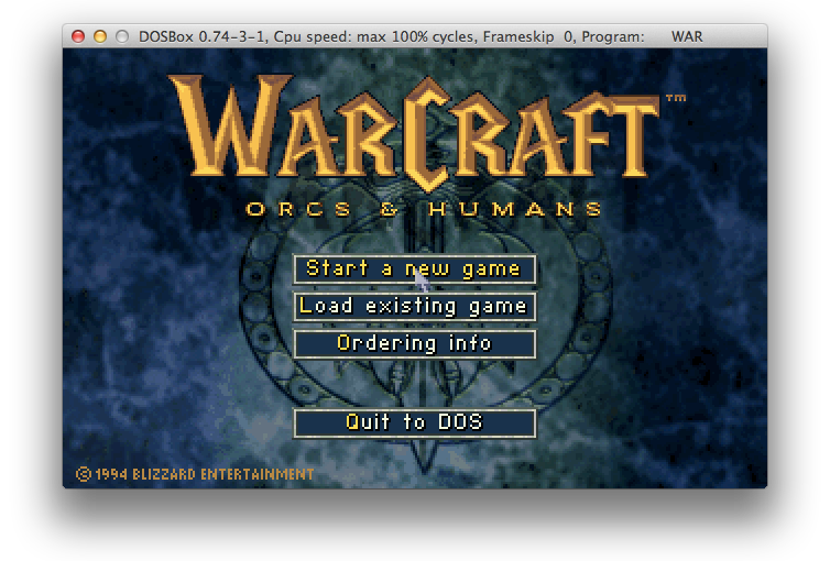 Warcraft: Orcs and Humans on OSX